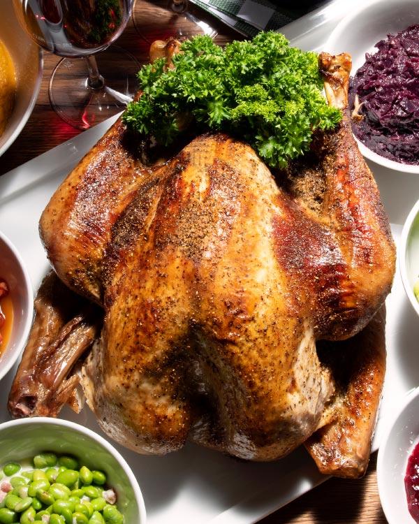 Pute nach Thanksgiving-Zubereitung